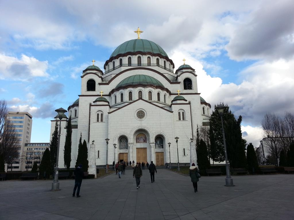 Собор Святого Саввы в Белграде. Блиц: купола