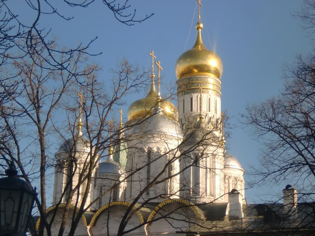 Москва . Кремль. Блиц: купола