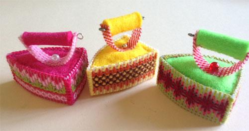 Игольница Утюг набор Риолис. Игольницы, брелки, подстаканники, закладки и др. сувениры