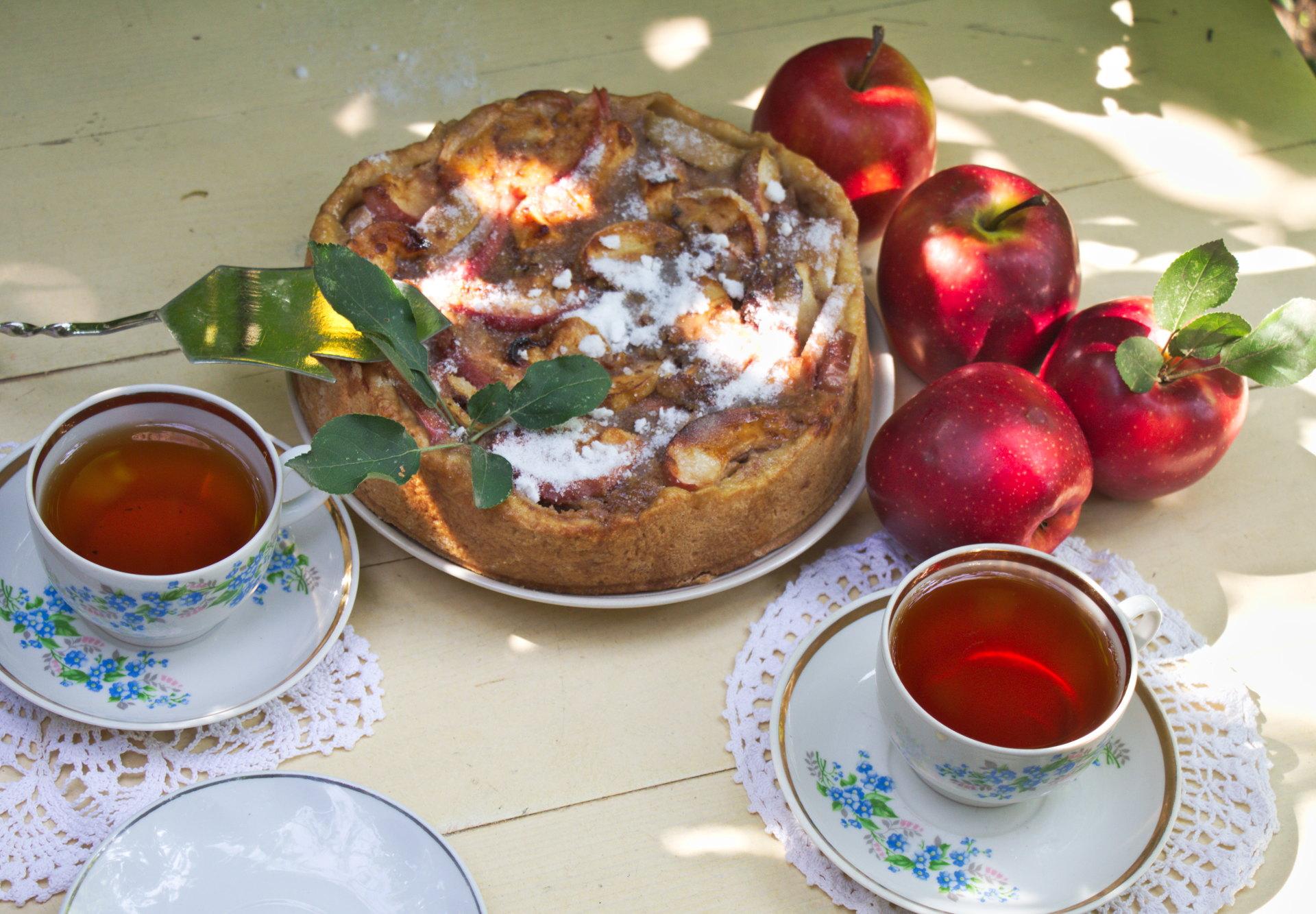 Творожно-яблочный пирог. Блиц: пироги и пирожки