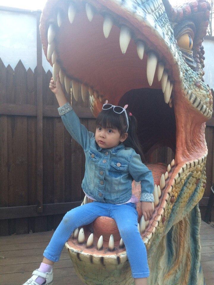 Алиюша.Динозавров не боюсь,даже в пасте улыбнусь. . Любимые динозавры