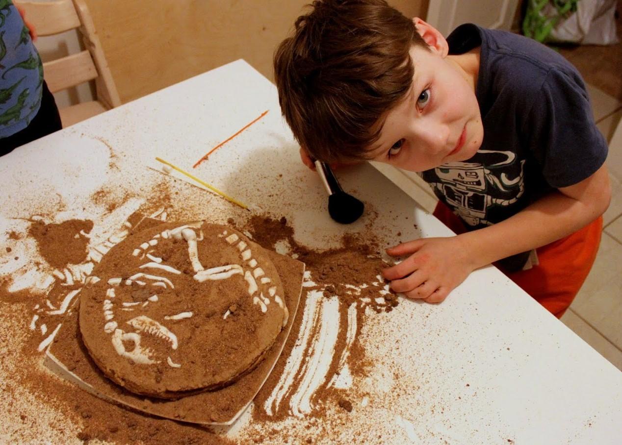Лучший торт для настоящего палеонтолога. Любимые динозавры
