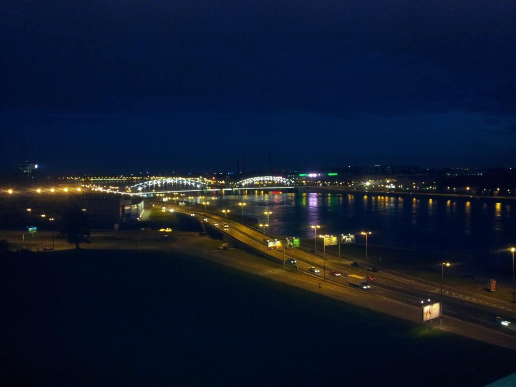 Питер. Мост Петра I ночью. Блиц: мосты
