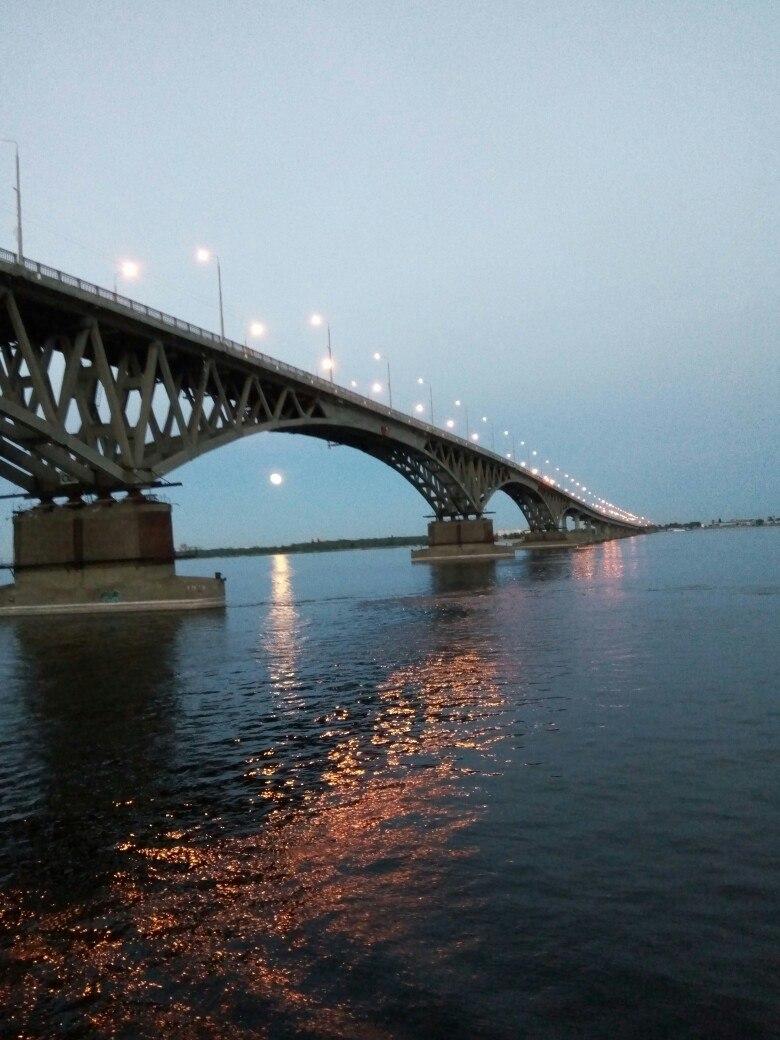 Полнолуние над Волгой. Блиц: мосты