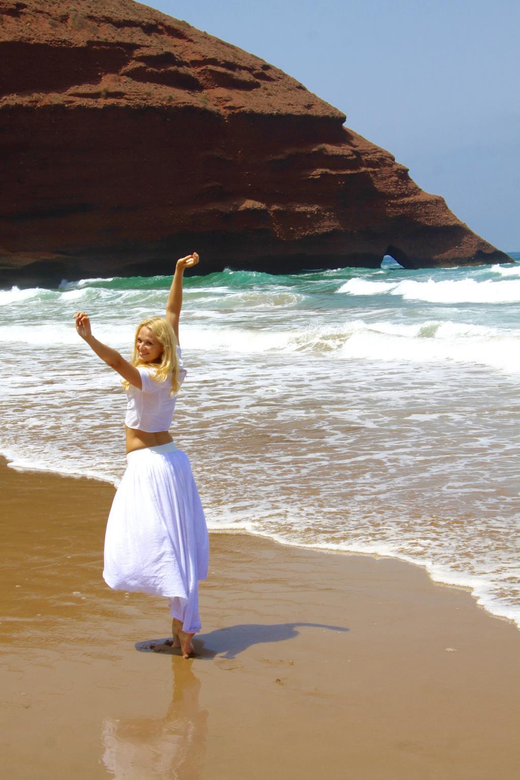 Пляж Легзира в Марокко. Привет из отпуска!