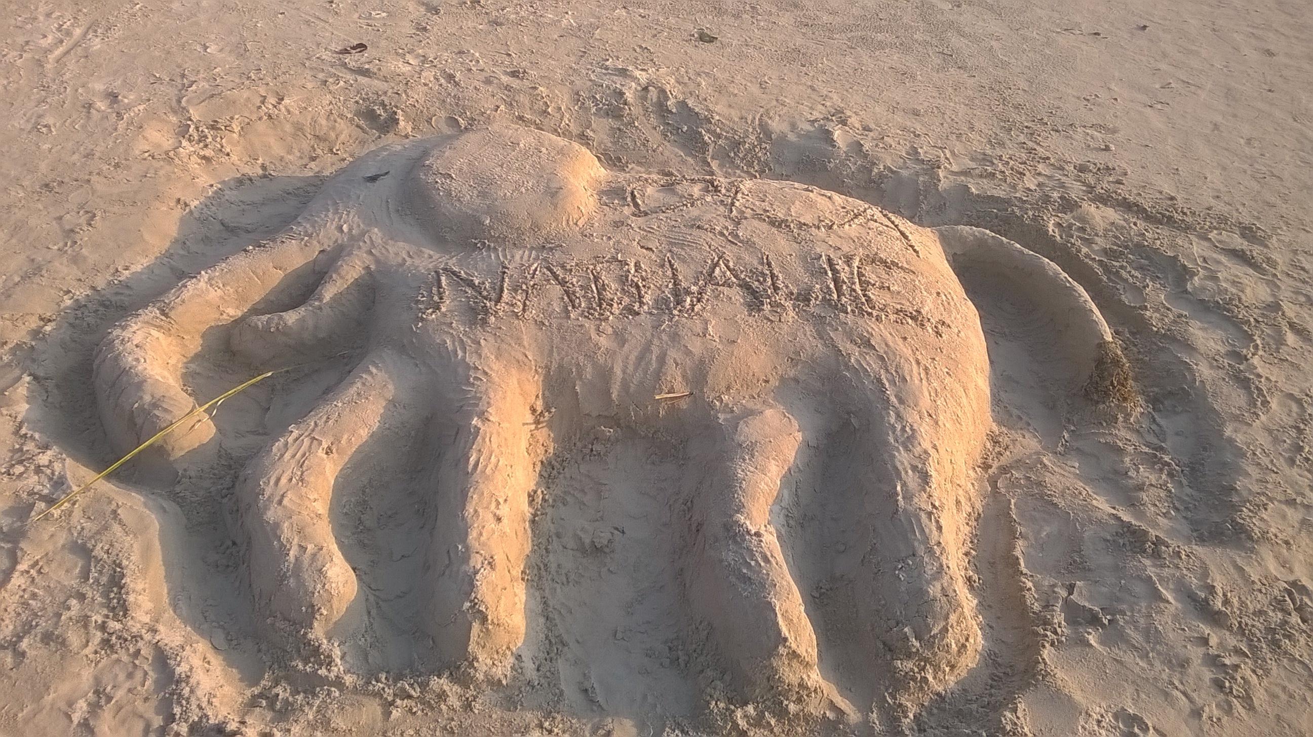 песчаный слоник. Блиц: фигуры из песка