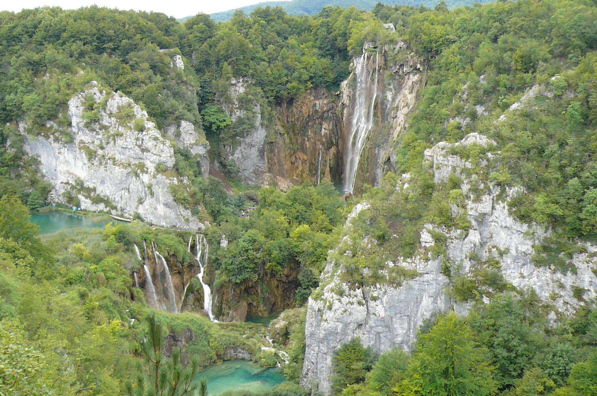 Хорватия. Плитвицкие озера. Блиц: с высоты