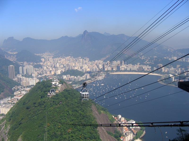 Рио-де-Жанейро. Вид с горы Сахарная Голова.. Блиц: с высоты