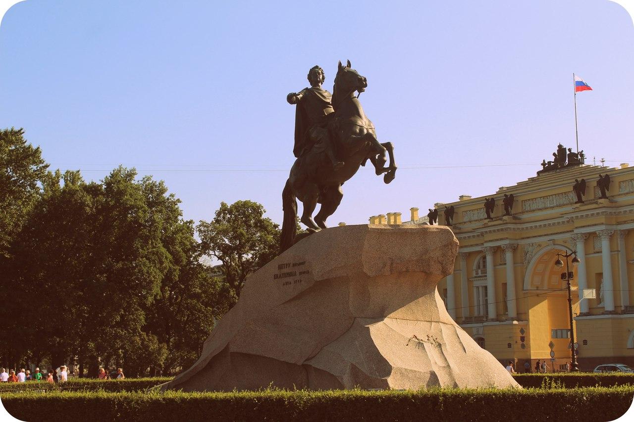 Петр 1 памятник  . Блиц: Санкт-Петербург