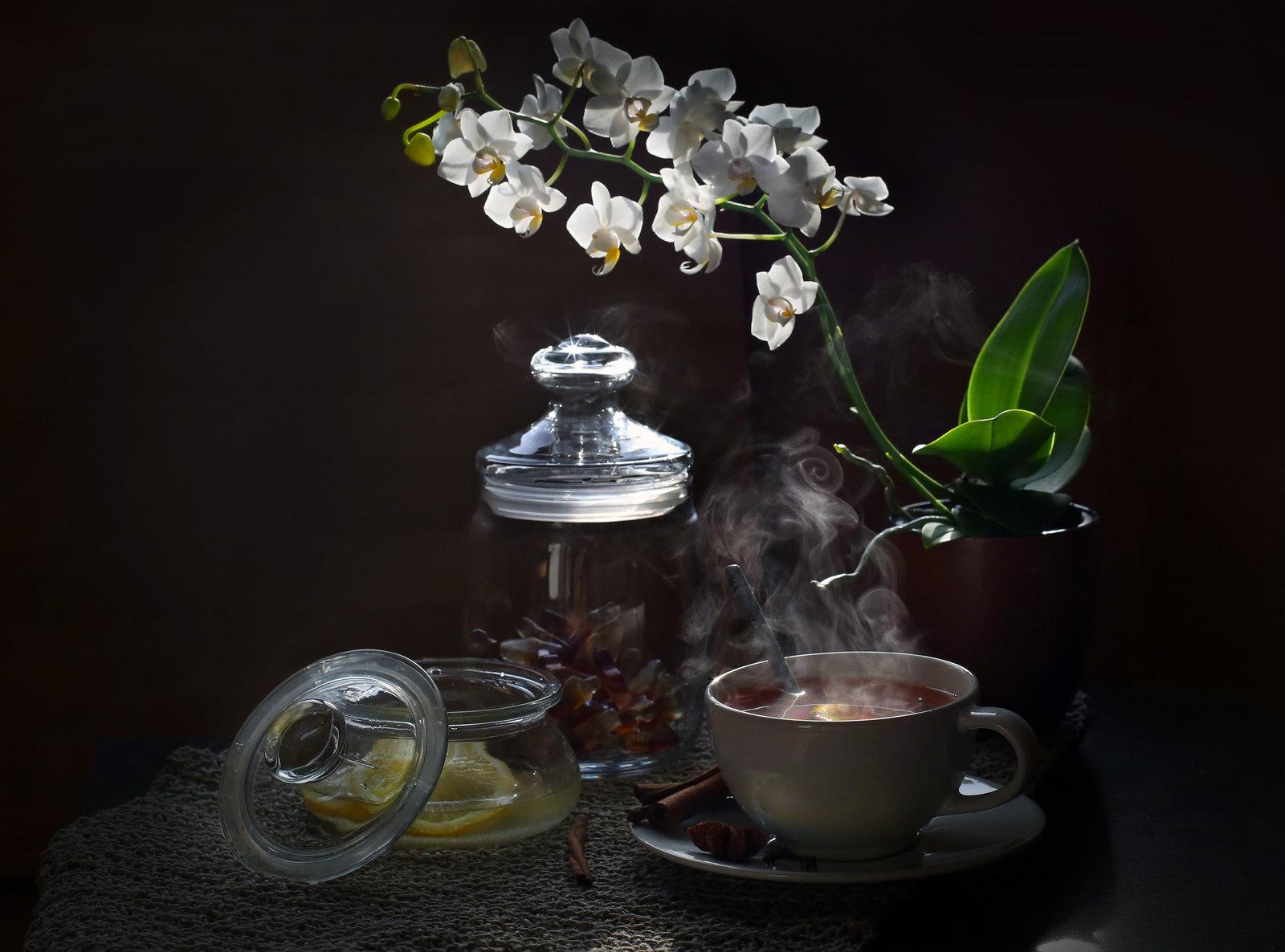 Чай с лимоном. Блиц: натюрморт