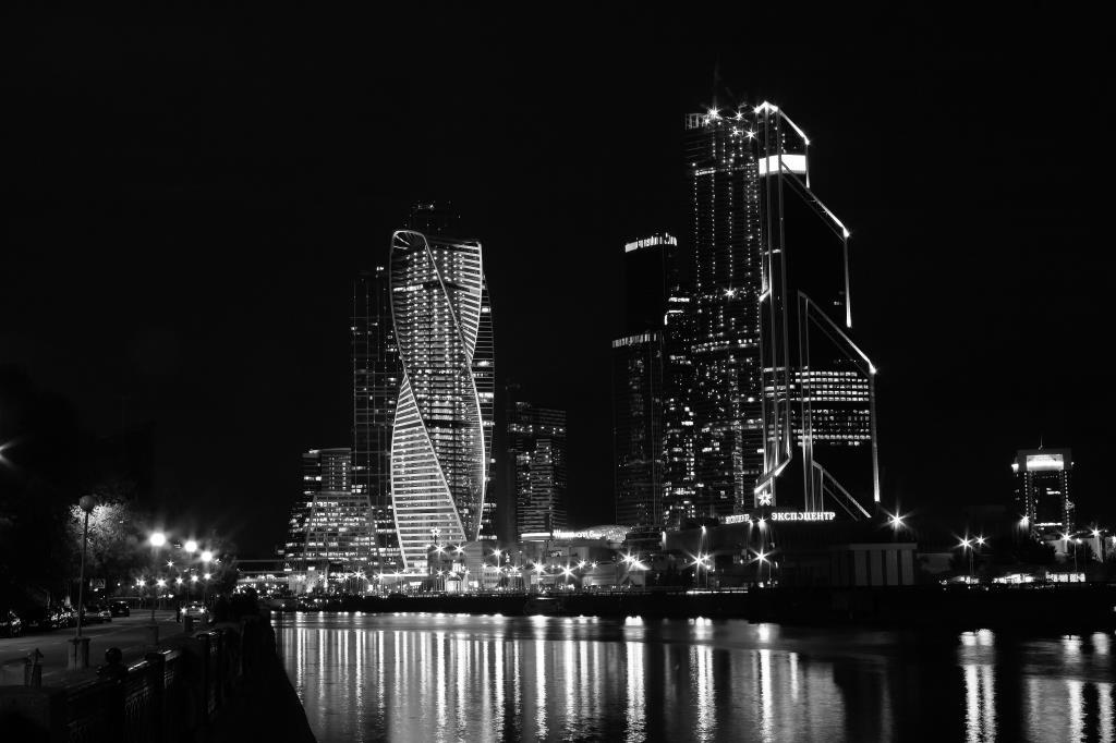 Ночная Москва-Сити . Блиц: Москва