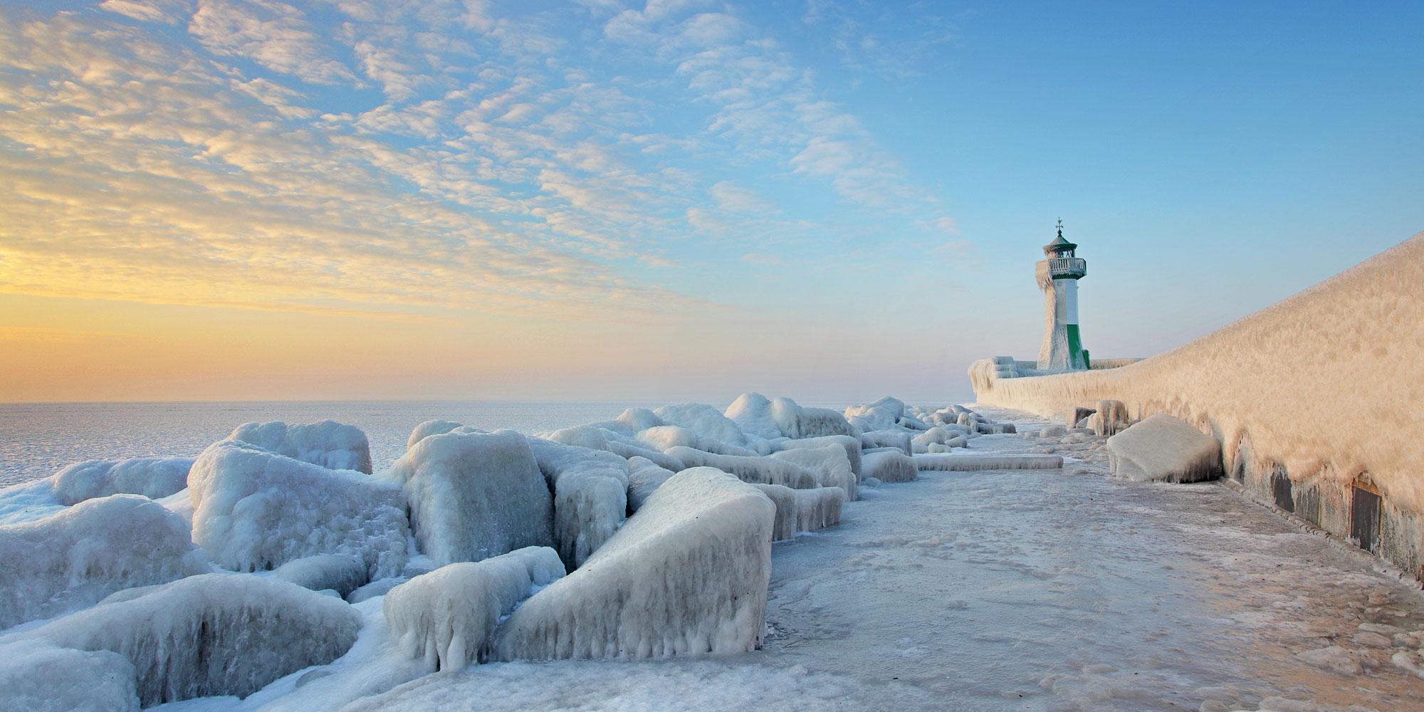 зима на Балтийском море. Блиц: снежная зима