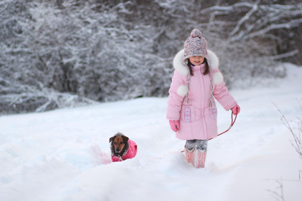 Прогулка двух подружек. Зимние забавы