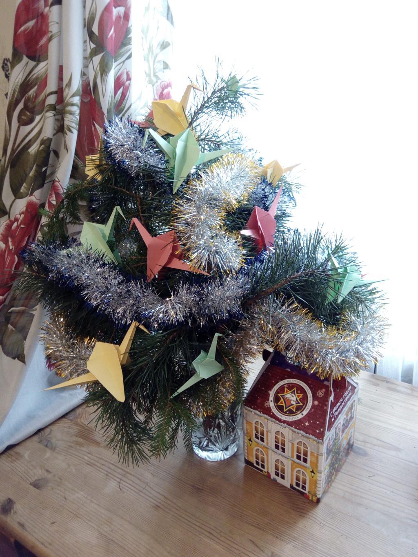 Хвойный букет с птицами счастья.. Блиц: новогодняя елка