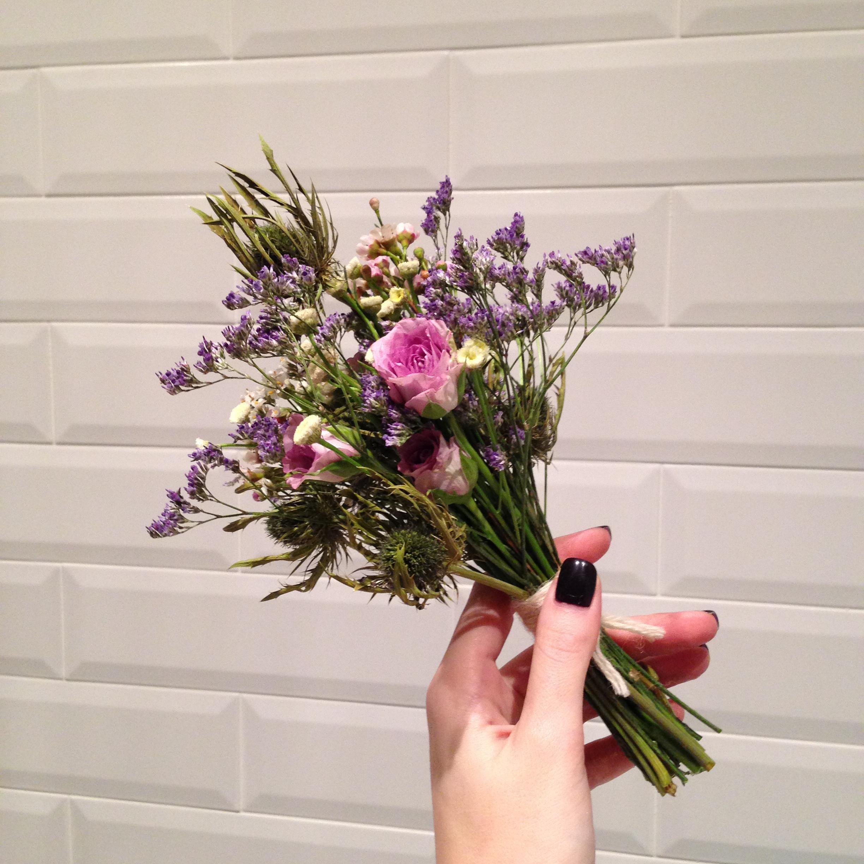 Мини-букет с розами . Блиц: розы