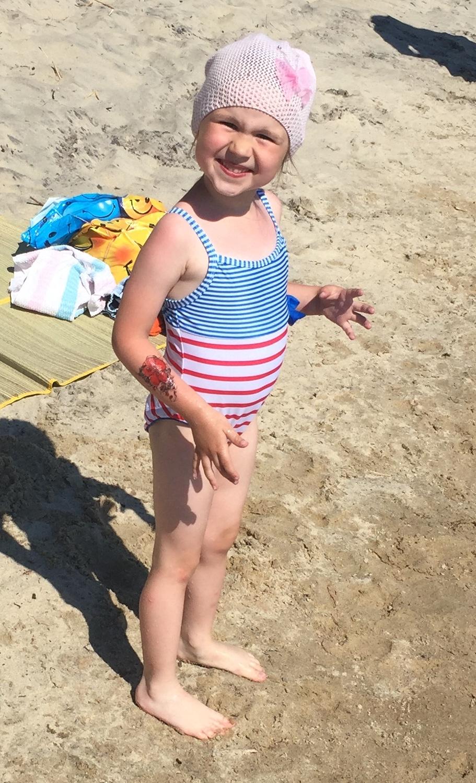 Улыбка на пляже. Улыбка для мамы