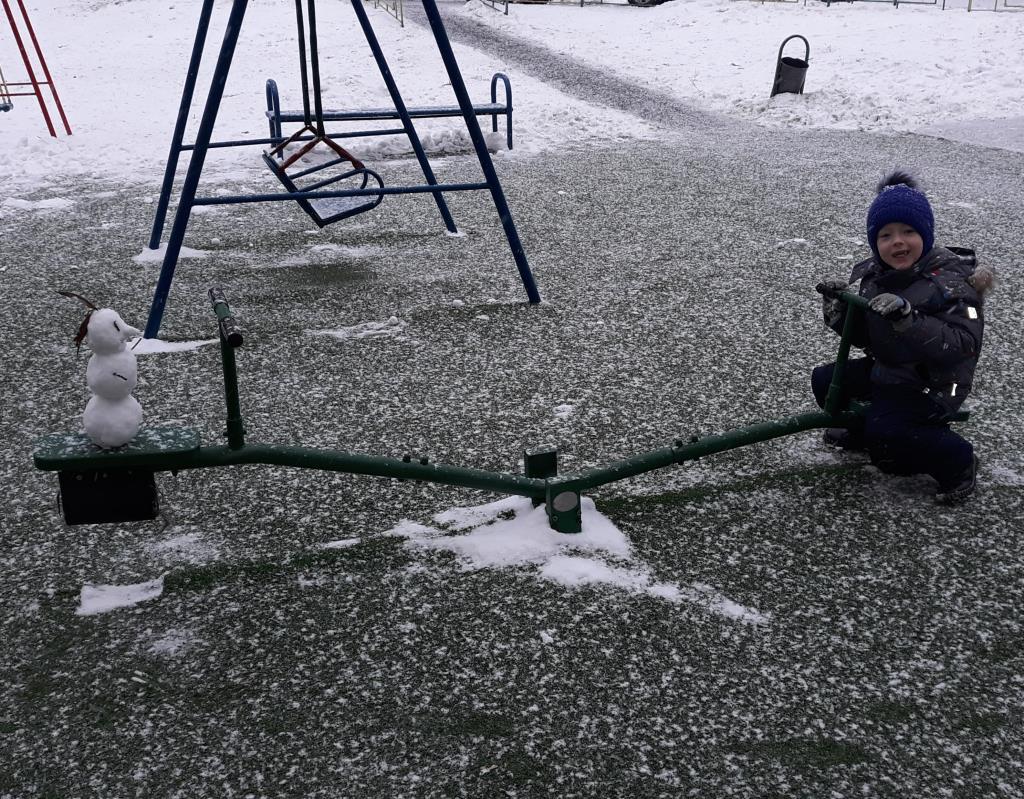 Снежный друг) . Веселая зима