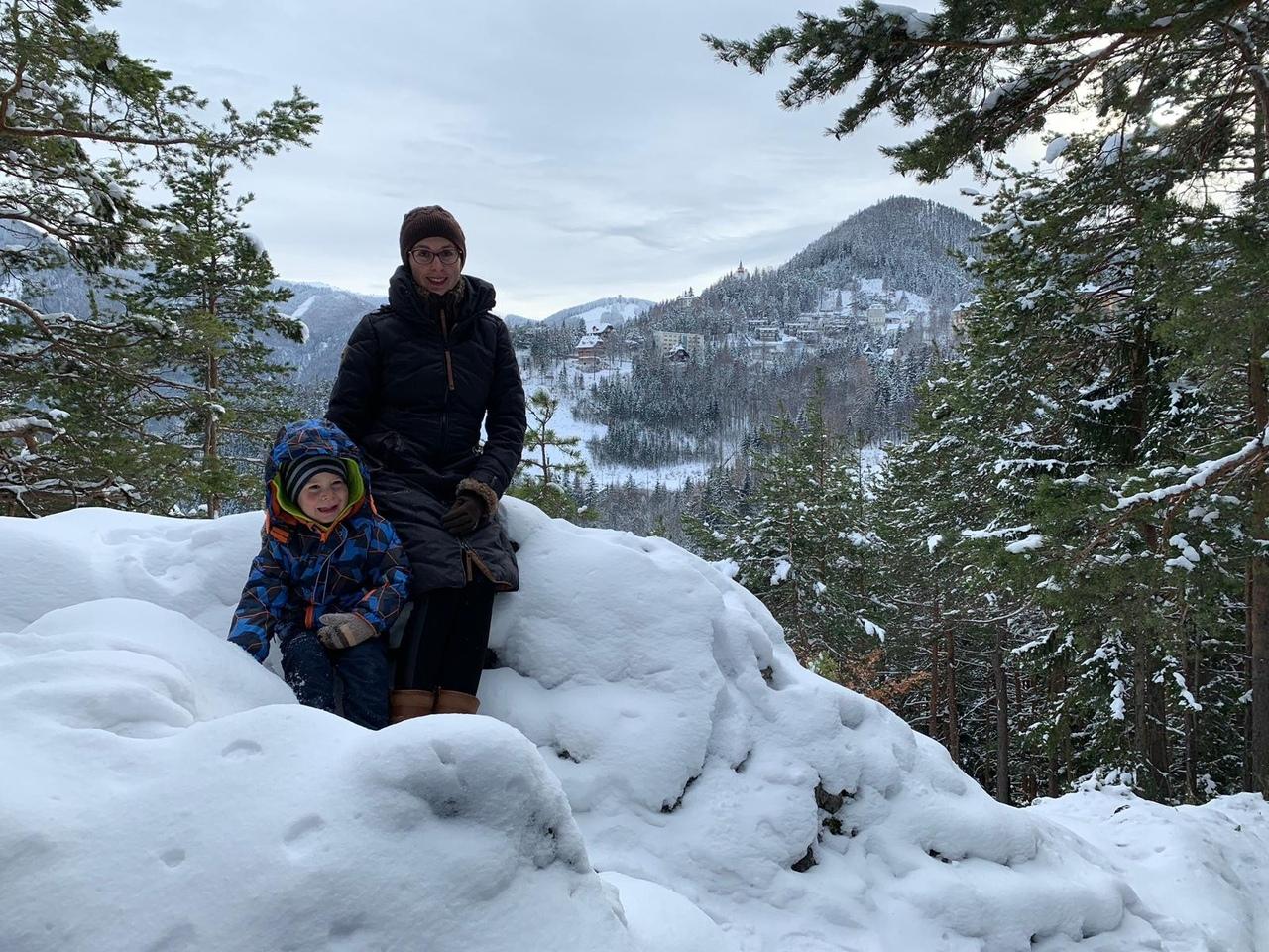 Горный туризм. Покоряя Альпы вместе с мамой.. Веселая зима