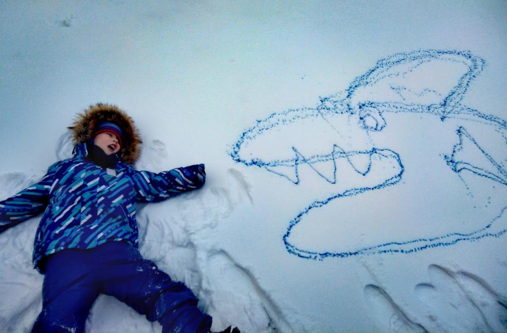 Ааа! Акула! . Веселая зима