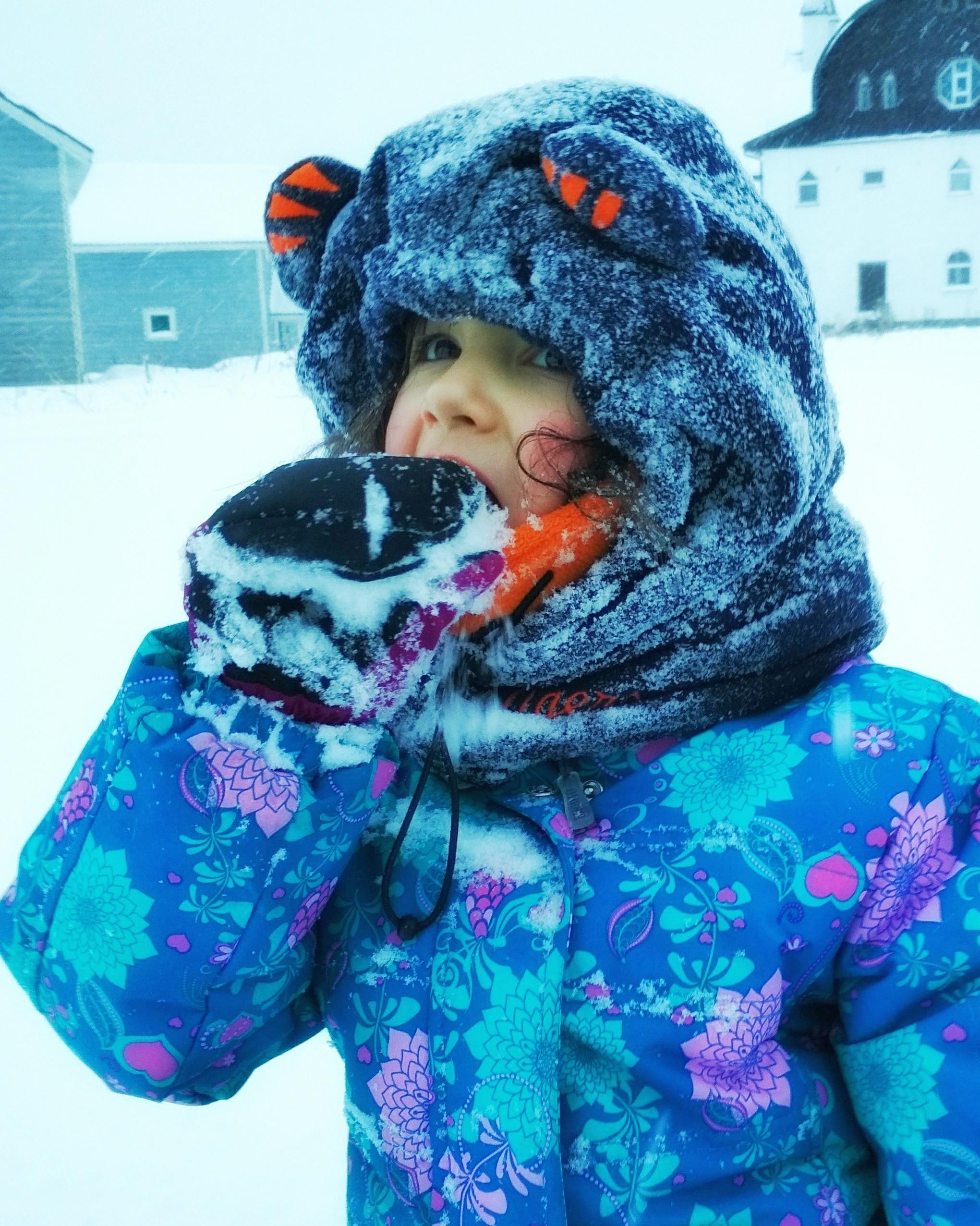 Вкусный снежок. Зимний образ