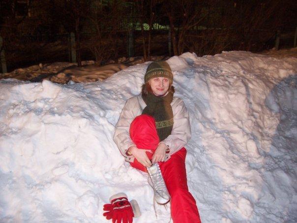 А через секунду в меня полетел снежок.... Зимний образ