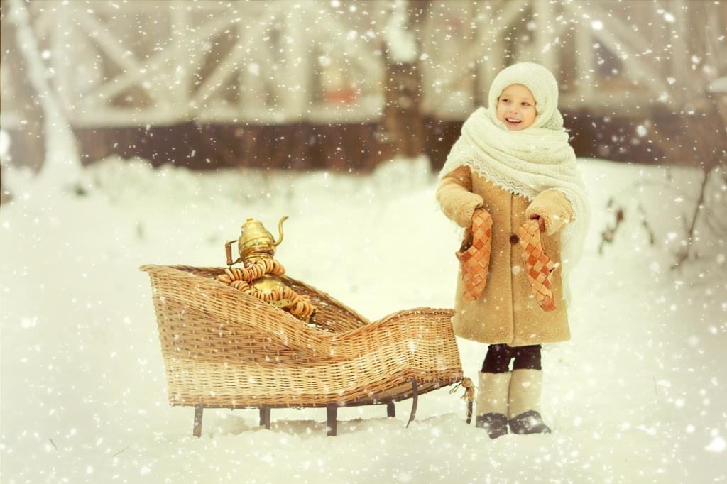 Еду  гости к Дедушке.....Подарочки везу...... Зимний образ