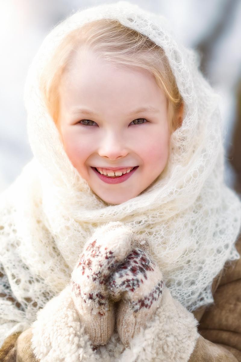 Русская красавица. Зимний образ