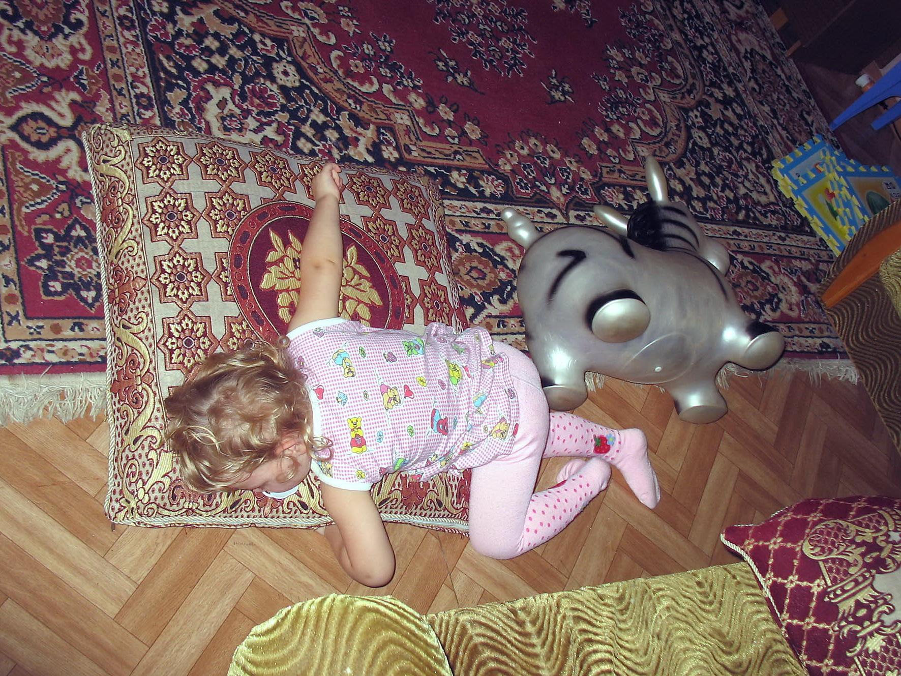 Утомилась. И коня уработала. Спокойной ночи! Кто спит слаще всего?