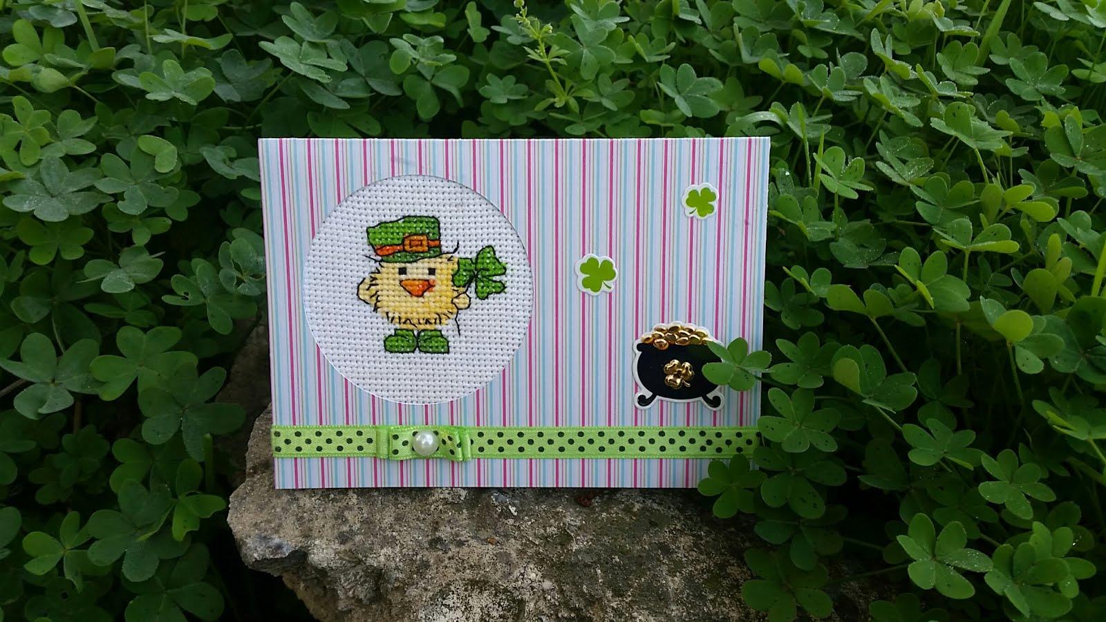 Моя открытка, теперь Наташина). открыточный обмен с Наташей ко дню св Патрика