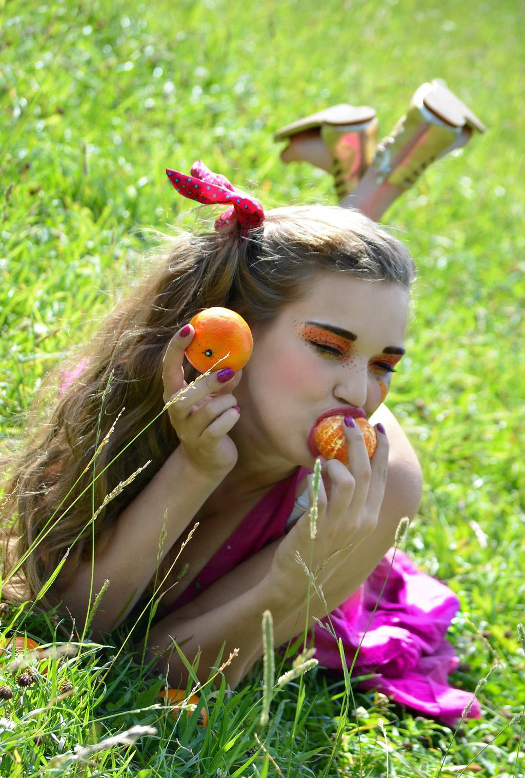 Солнечная мандаринка!. Яркий образ