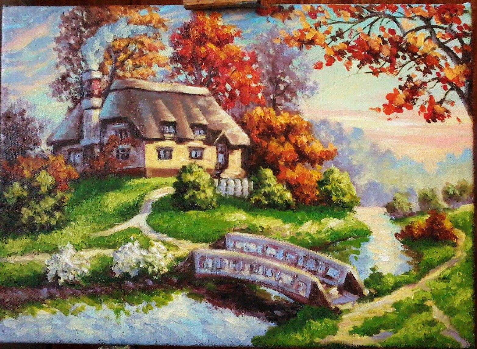 Осенний пейзаж. Рисунок
