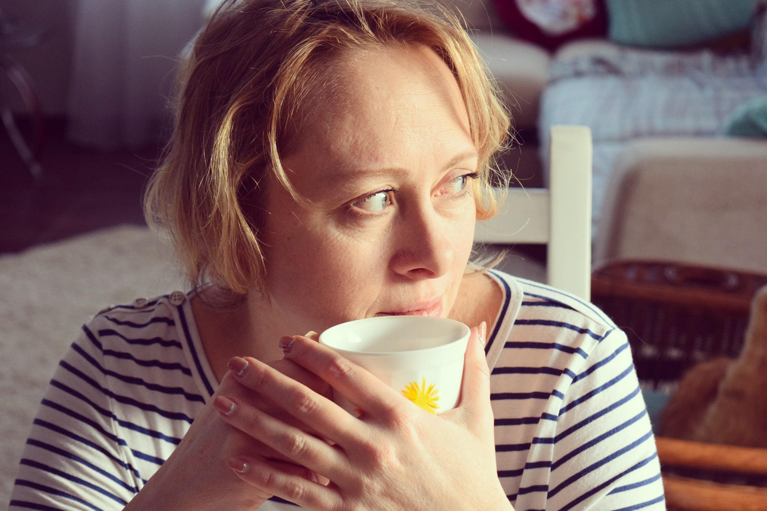Утро с мамой за чашкой чая.. За чашкой чая