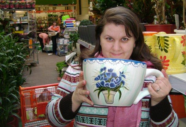 наш размерчик!))). За чашкой чая