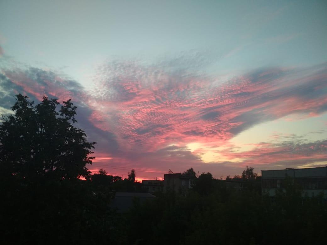 Блиц:небо в облаках. 'Вечернее небо'. Блиц: небо в облаках