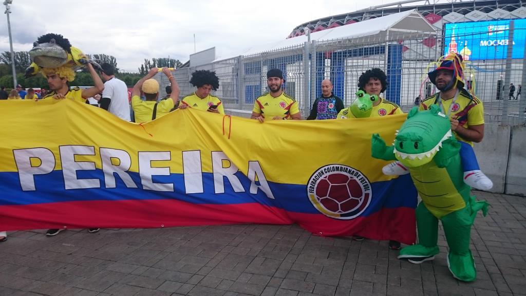 Колумбийские болельщики. Блиц: кругом футбол
