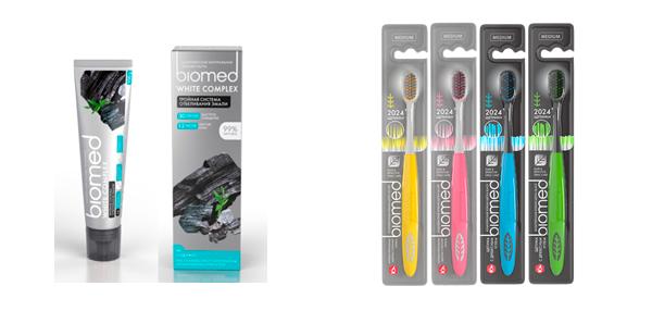Черная зубная паста BIOMED и новые зубные щетки
