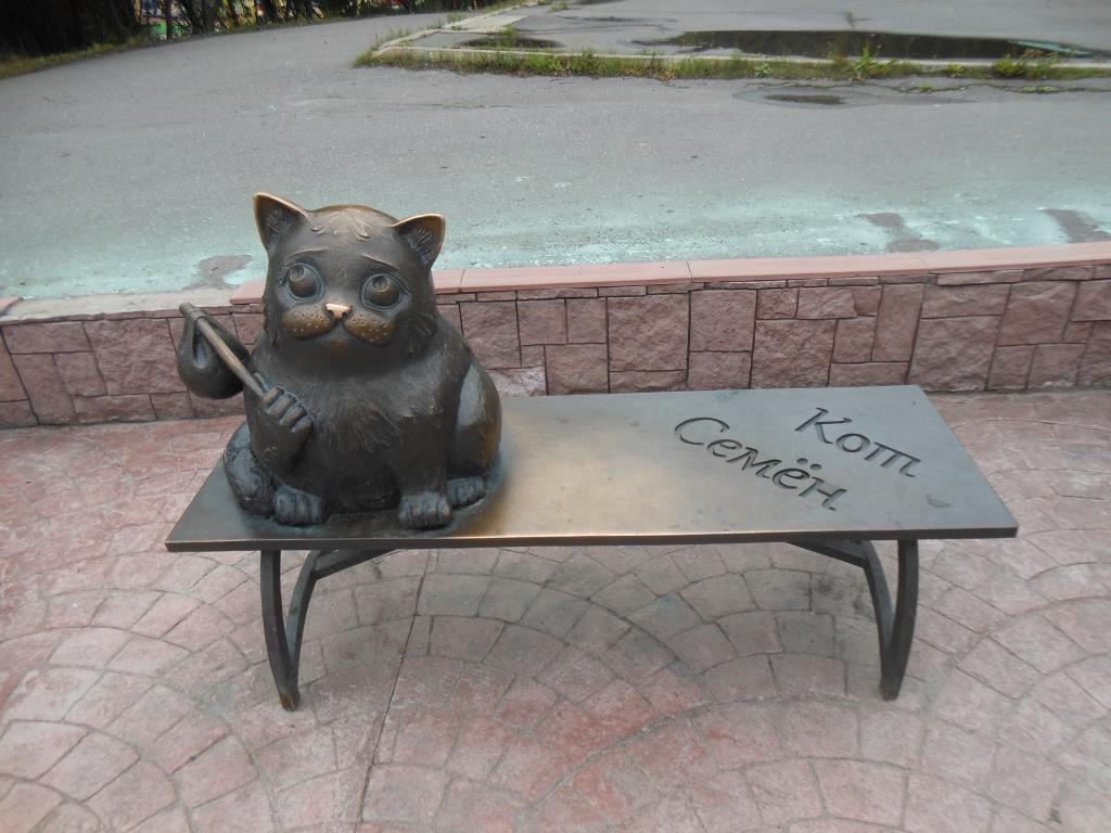 Картинка памятник коту семену в мурманске