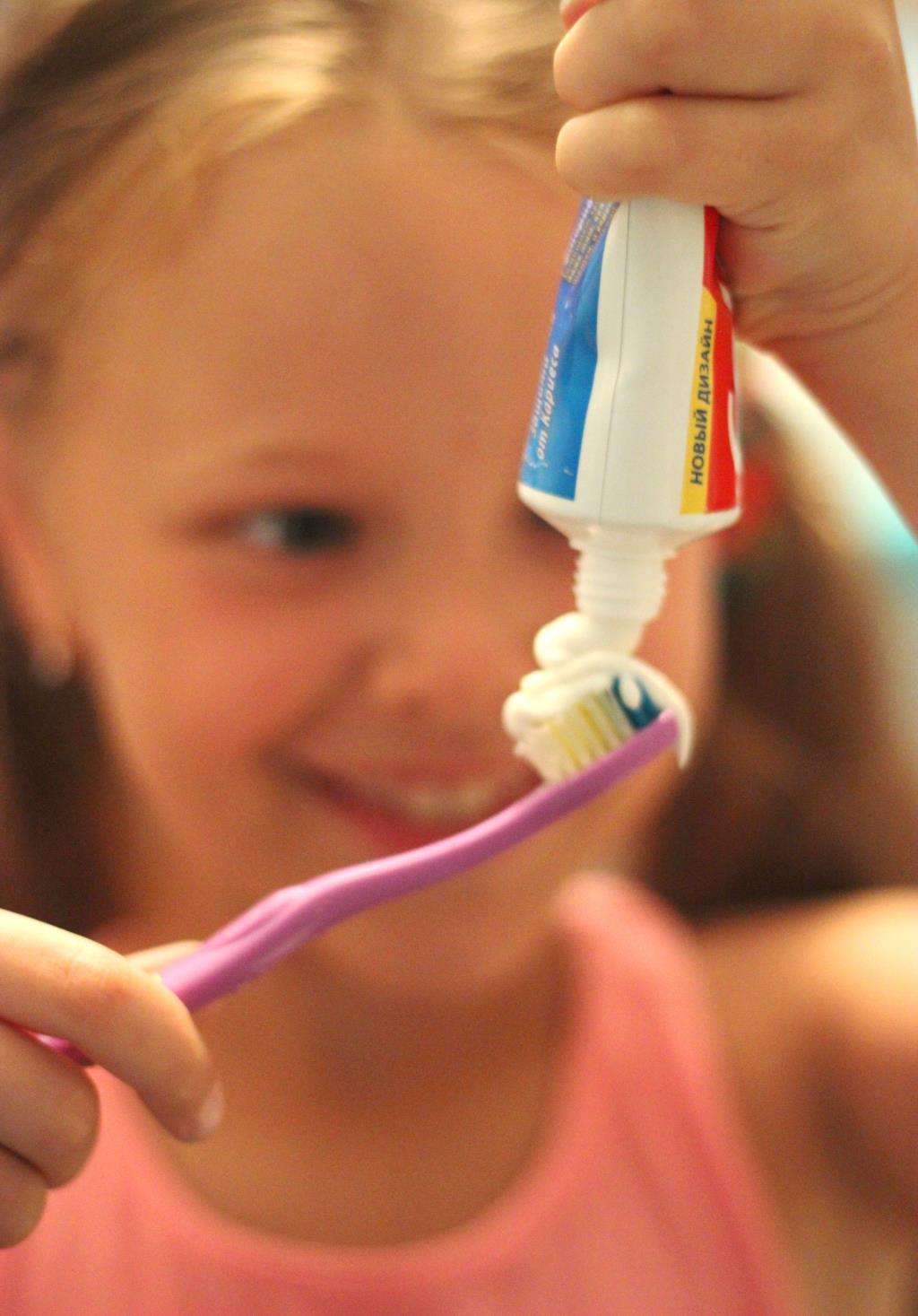 У меня зубная щетка... Чистим зубки