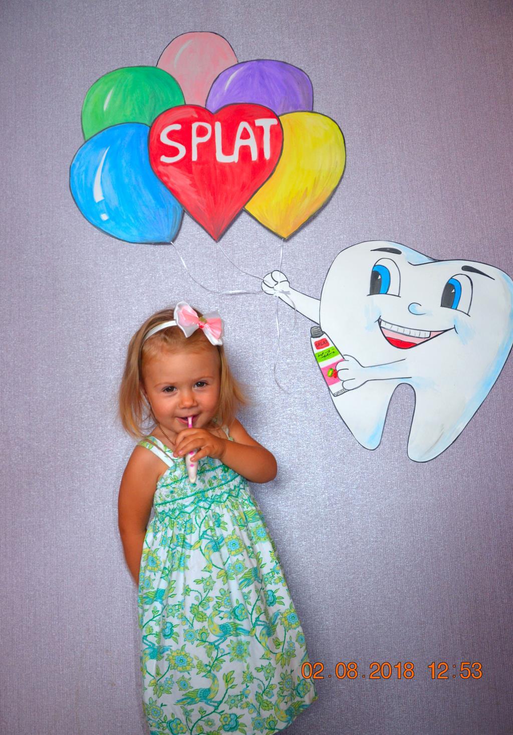 С самой лучшей пастой Splat чистить зубы детка рад. Чистим зубки