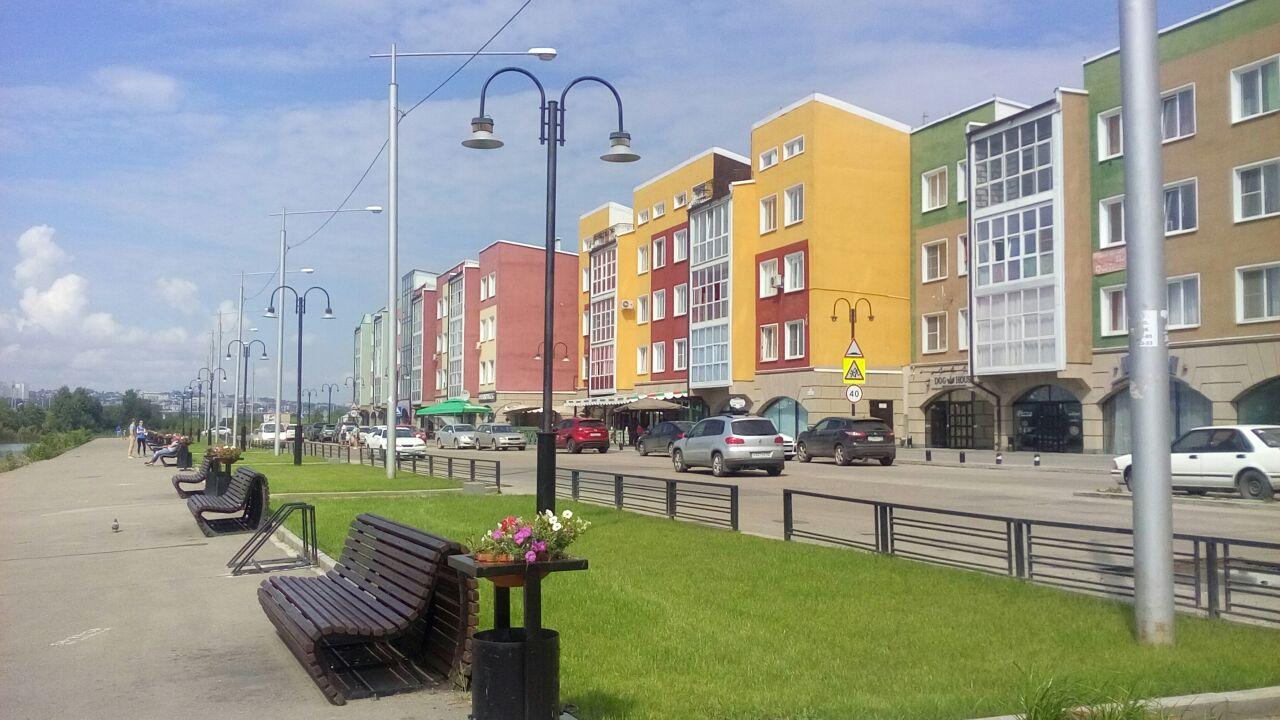 На берегу Ангары г. Иркутск. Блиц: разноцветный город