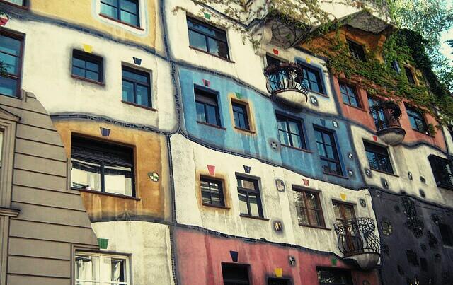 Дом в Вене. Блиц: разноцветный город
