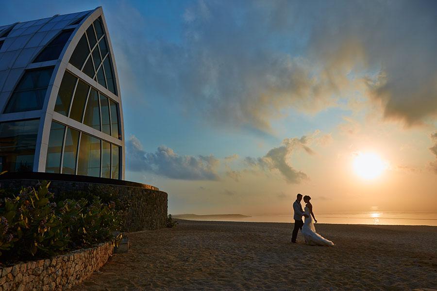 Закат в отеле The Ritz-Carlton, Bali