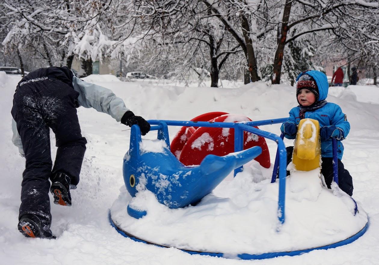 'Веселая карусель' на братовской тяге. Веселая зима