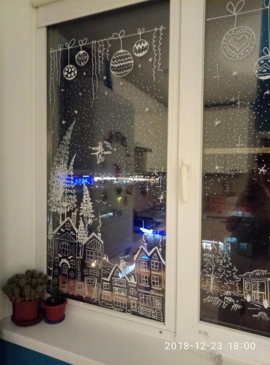 Зимняя сказка на окне. Блиц: окна