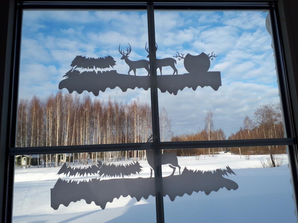 Окно в зиму. Блиц: квадраты