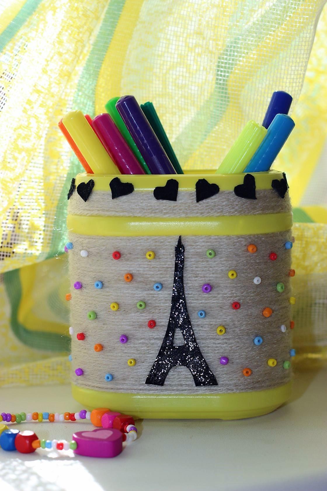 Карандашница своими руками 'Париж'. Блиц: квадраты
