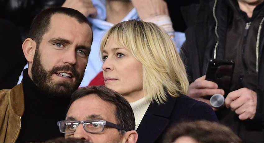 Робин Райт с мужем