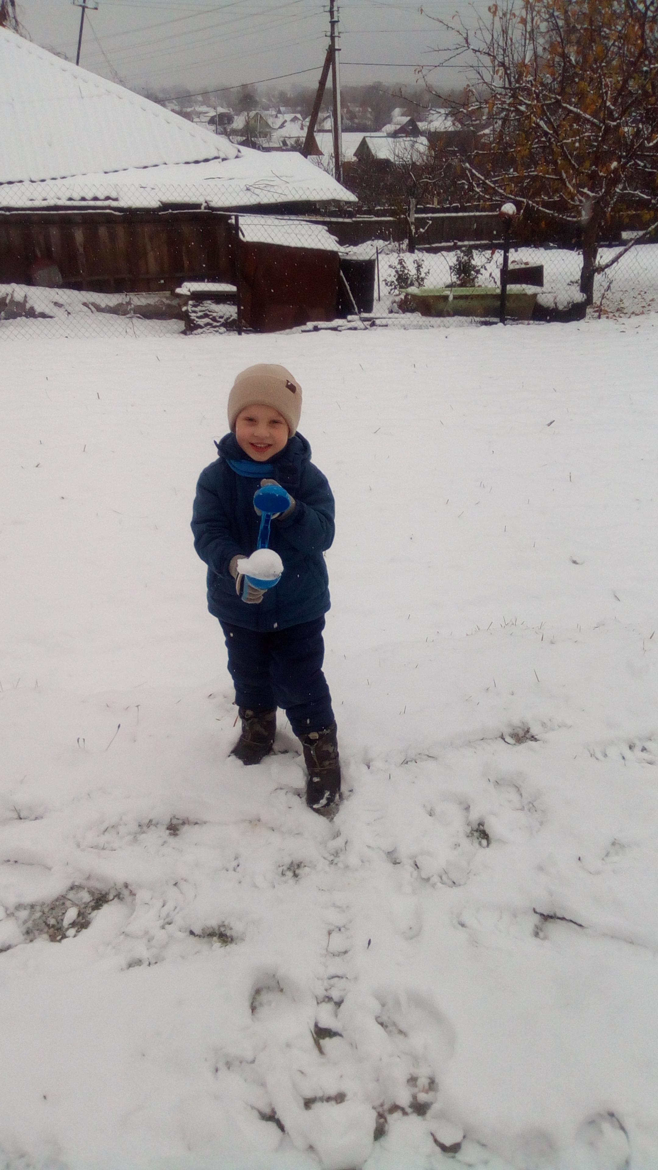 Первый снег. Веселая зима
