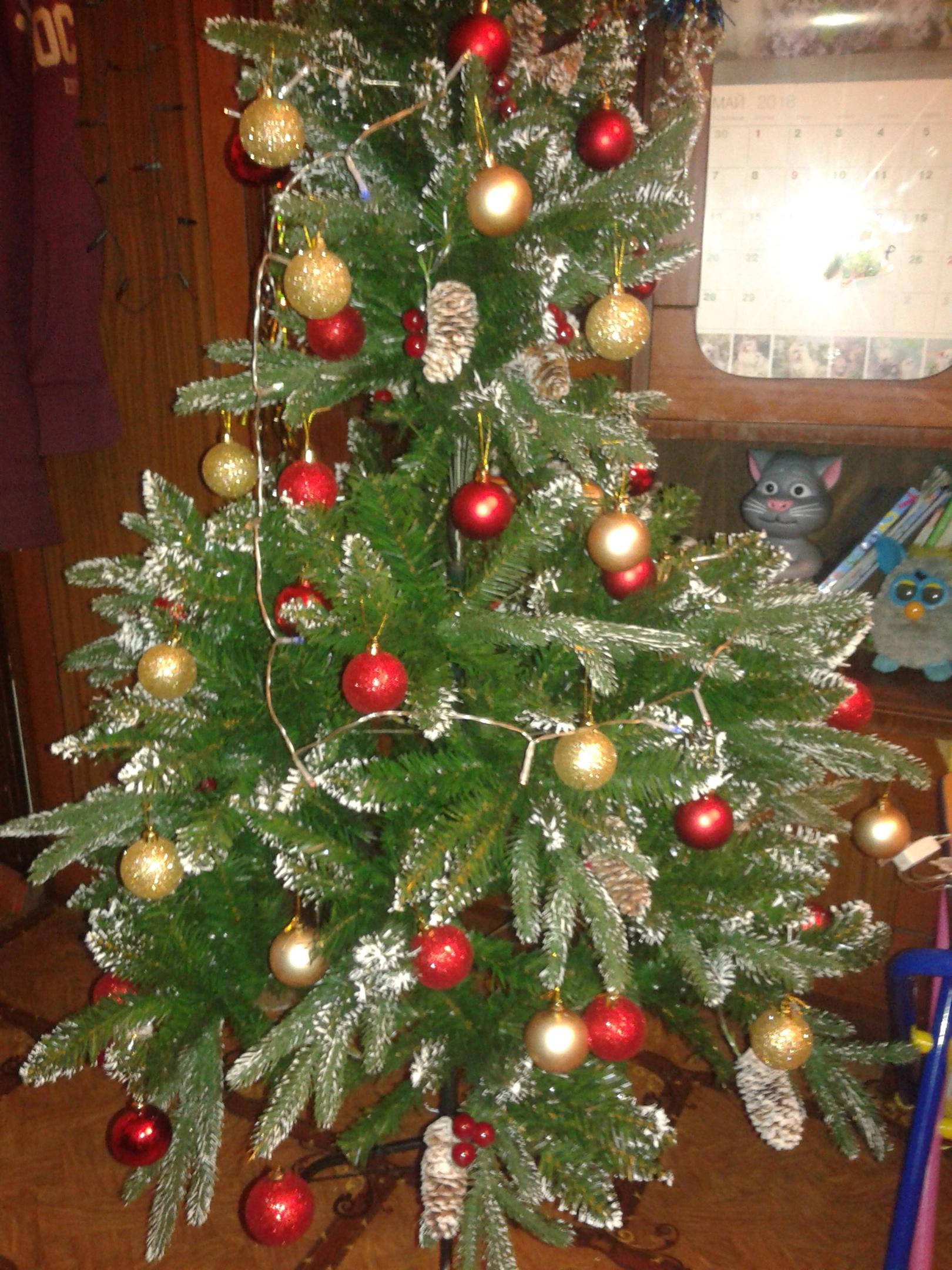 вот моя елочка красивая и нарядная. Блиц: Ну и елка!