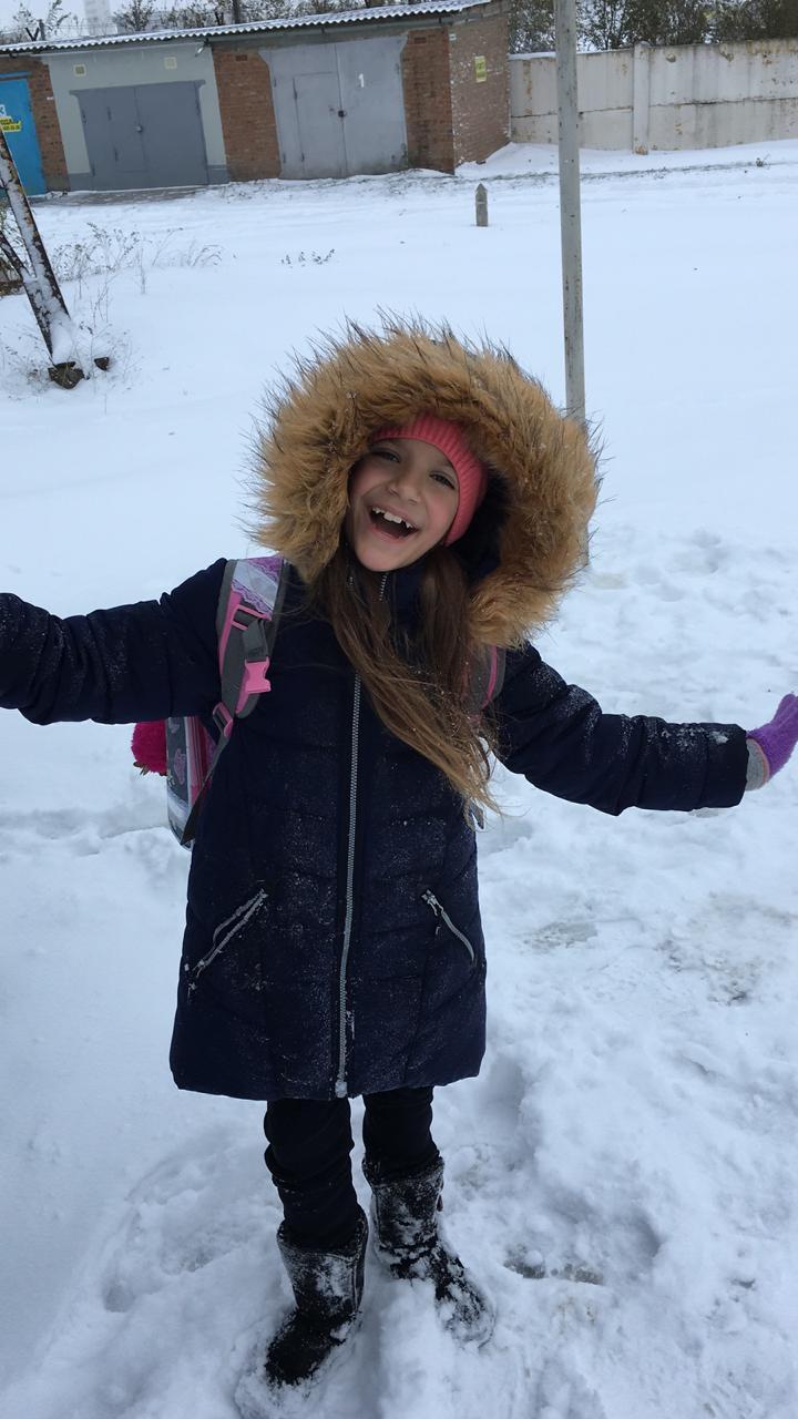 Первый снег). Веселая зима